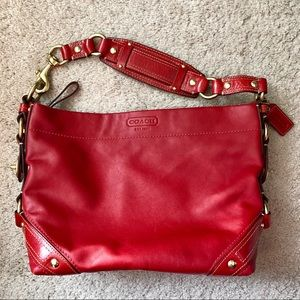 Coach | red leather carly bag